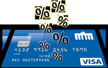 Mit dem Cashback-Programm der Deutschland Kreditkarte kann man bis zu 15 % sparen