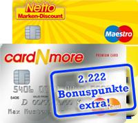 cardNmore Kartendoppel jetzt mit 2.222 Bonuspunkten