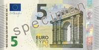 5-Euro-Schein in neuem Design