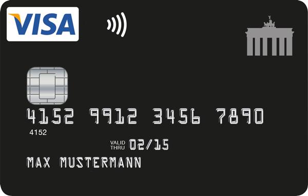 Deutschland Kreditkarte schwarz und mit payWave