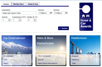 Finanzdeal: Miles & More Hotel & Car Awards- 10% VIP- Rabatt bis 15. April