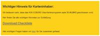 HUK-COBURG Kreditkarte beendet