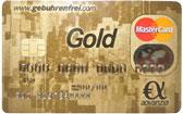 Kostenlose goldene Kreditkarte
