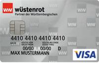 Wüstenrot VISA Prepaid Kreditkarte