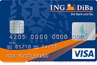 ING-DiBa Kreditkarte mit Maestro-Karte