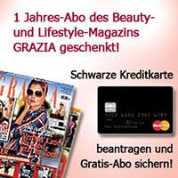 gratis GRAZIA-Abo zur Schwarzen Kreditkarte