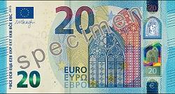 der neue 20-Euro-Schein der EZB