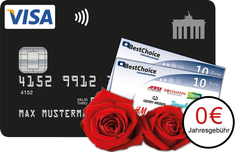 Deutschland-Kreditkarte verschenkt BestChoice Gutscheine