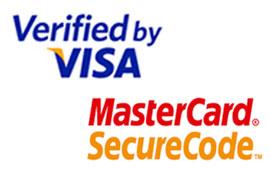 Verified by VISA und MasterCard SecureCode Logos