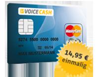 VoiceCash Prepaid MasterCard Kreditkarte