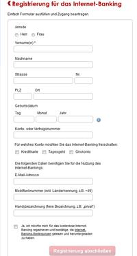 Online-Registrierung Deutschland-Kreditkarte
